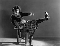 Portrait of playful woman Stock Photo