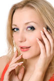 Playful young blond woman Royalty Free Stock Photography