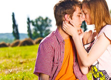 Portrait of playful young love couple having fun Royalty Free Stock Photography