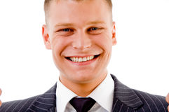 Portrait of pleased businessman Royalty Free Stock Photo