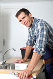 Portrait of plumber Royalty Free Stock Photos