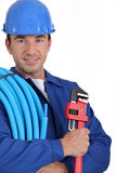 Portrait of a plumber Royalty Free Stock Image