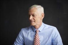 Portrait plus âgé de pensée d'homme Photographie stock libre de droits