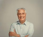 Portrait plus âgé de sourire heureux d'homme Image libre de droits