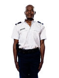 Portrait of policeman in uniform Royalty Free Stock Photo