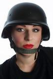 Portrait of  policewoman! Stock Photos