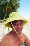 Portrait of Polynesian Pacific Island Tahitian mature woman Aitu Royalty Free Stock Images