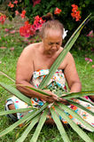 Portrait of Polynesian Pacific Island Tahitian mature woman Aitu Royalty Free Stock Photos