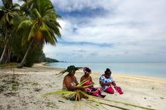 Portrait of Polynesian Pacific Island Tahitian mature woman Aitu Stock Photography