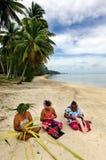 Portrait of Polynesian Pacific Island Tahitian mature woman Aitu Stock Photos