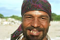 Portrait of poor Argentine man with bad teeth royalty free stock photos