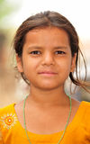 Portrait of poor village girl Royalty Free Stock Photo