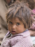 Portrait poor young girl in India Royalty Free Stock Images
