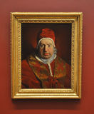 Portrait of Pope Benedict XIV, by Subleyras Stock Photo