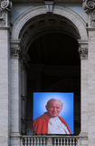 Portrait of Pope John XXIII on Basilica Stock Photography