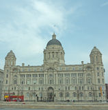 Portrait of the port of liverpool building Stock Images