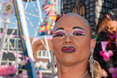 Portrait of a posing drag queen Royalty Free Stock Photo