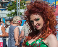 Portrait of a posing redheaded drag queen Royalty Free Stock Image