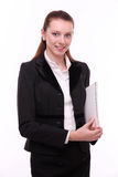 Portrait of positive business woman. Royalty Free Stock Images