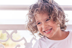 Portrait of positive kid Stock Images