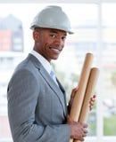Portrait of a positive male architect stock photo