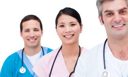 Portrait of a positive medical team Royalty Free Stock Image