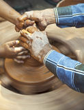 Portrait of a Potters wheel Stock Images