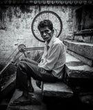 Portrait of poverty Stock Image