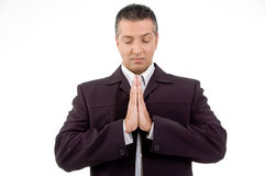 Portrait of praying adult ceo Royalty Free Stock Photography