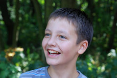 Portrait of pre-teen boy smiling Royalty Free Stock Photography