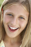 Portrait Of Pre-Teen Girl Smiling Royalty Free Stock Photography