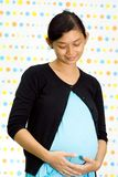 Portrait of pregnant asian ethnic woman Royalty Free Stock Photo