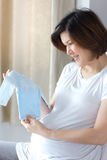 Portrait of pregnant Asian woman royalty free stock photography