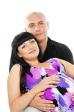 Portrait of a pregnant girl and a guy Stock Image