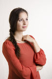 Portrait of pregnant girls looking right Stock Photography