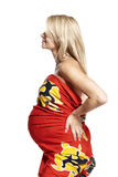 Portrait of a pregnant woman Stock Photos