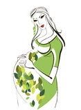 Portrait of a pregnant woman Royalty Free Stock Photo