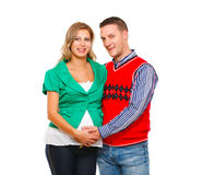 Portrait of pregnant woman with husband Royalty Free Stock Images