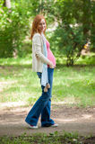 Portrait of a pregnant woman Royalty Free Stock Images