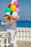 Portrait of pregnant woman with sunglasses and hat Stock Photography