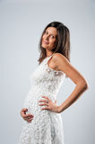 Portrait of pregnant woman Stock Image