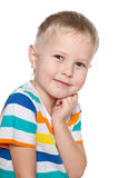 Portrait of preschool boy Stock Photos