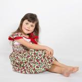 Portrait of preschooler girl in summer dress Stock Photography