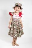 Portrait of preschooler girl in summer dress Stock Photos
