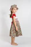 Portrait of preschooler girl in summer dress Royalty Free Stock Image