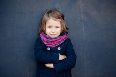 Portrait of preschooler girl. Young toddler girl outdoor. This image has attached release Royalty Free Stock Photo