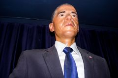 President Barack Obama - wax statue stock images