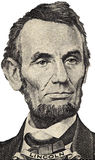 Portrait of President Lincoln Stock Photography