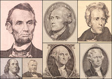 Portrait Presidents Of The United States Stock Photo