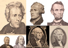 Portrait Presidents Of The United States. Collage stock photography